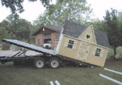 pre built playhouse delivery