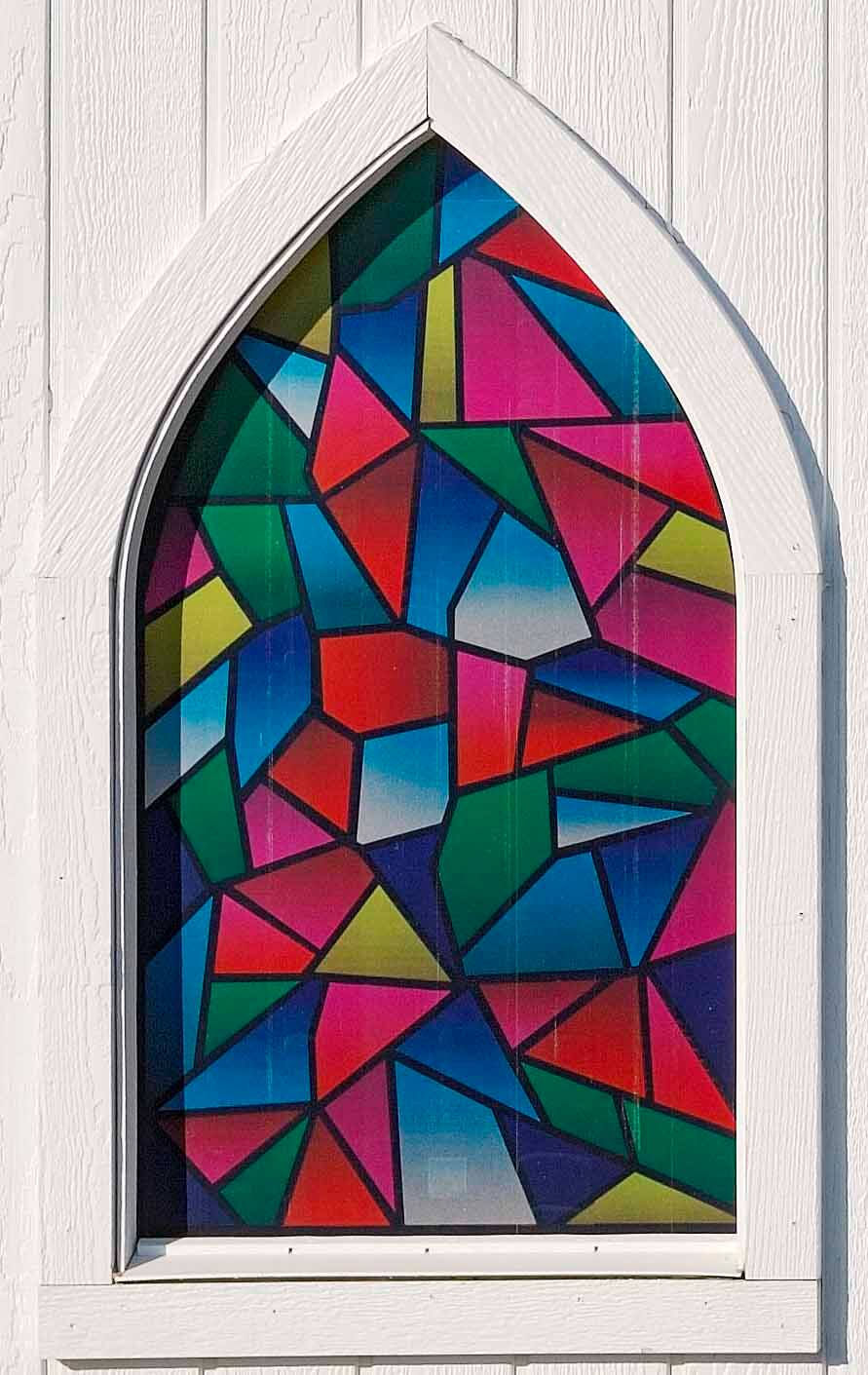Little Cottage Chapel_ Multi Color Stained Glass