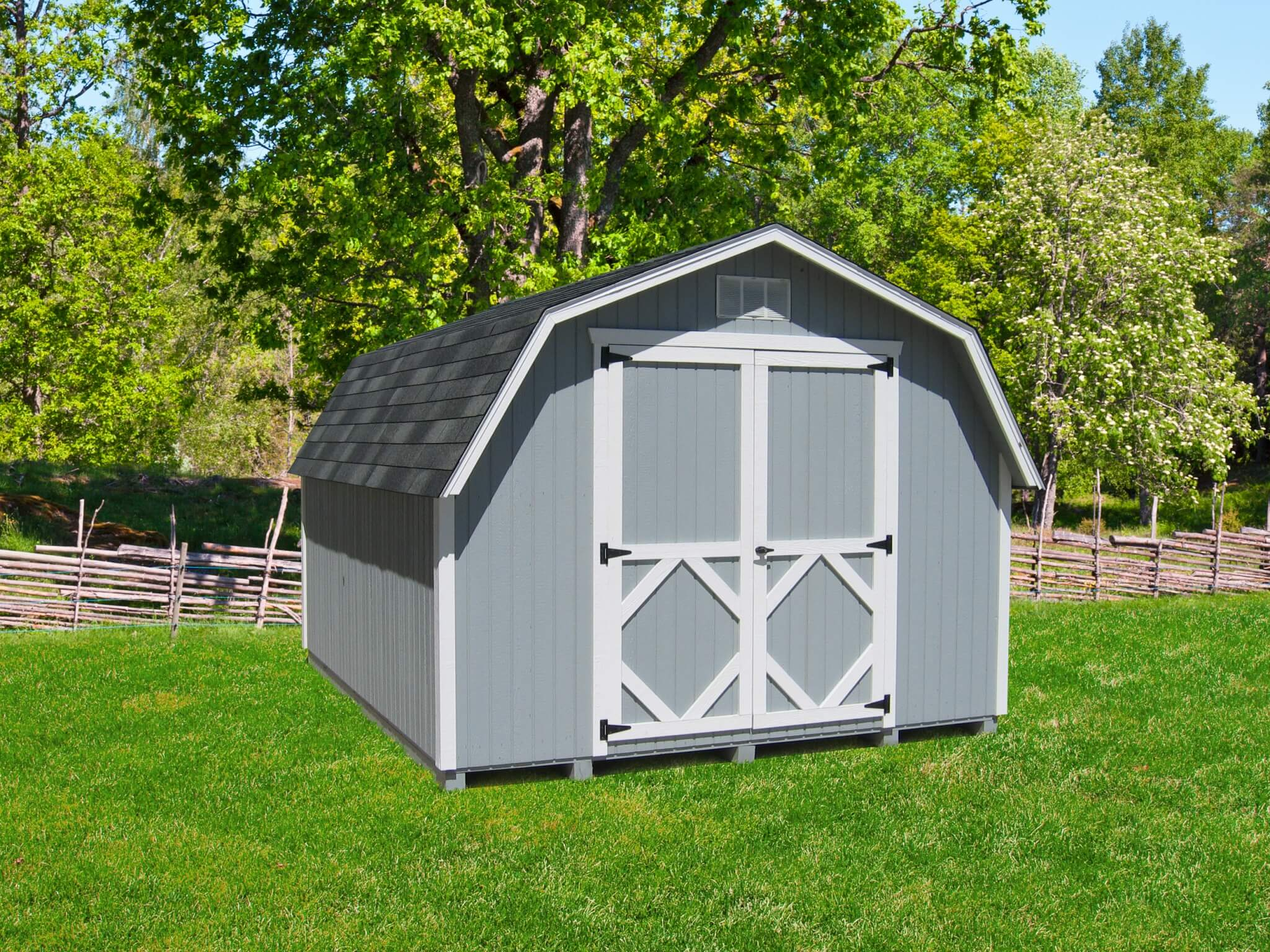 Classic Gambrel Barn storage shed kit