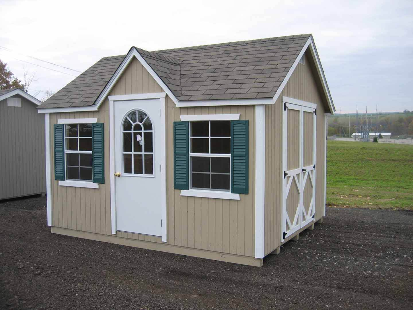 Classic Wood Cottage storage shed kit
