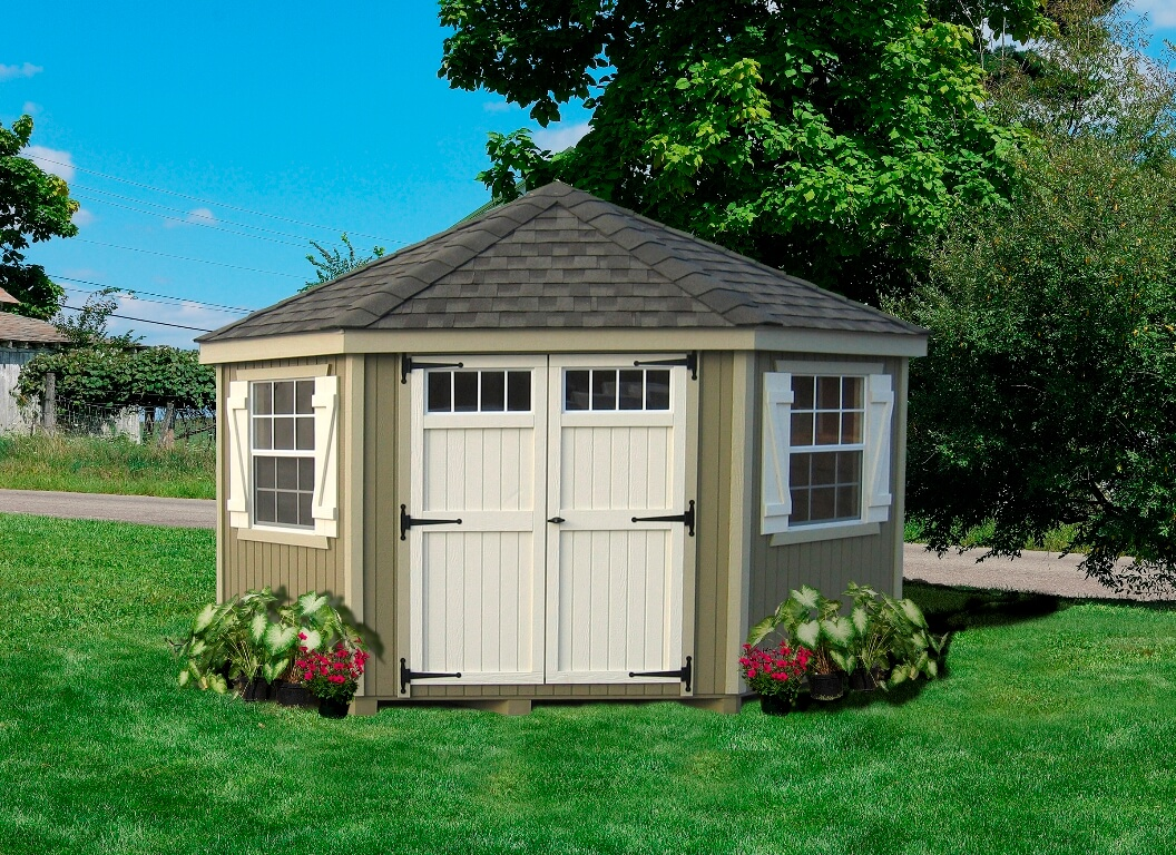 Colonial Five Corner Garden Shed kit