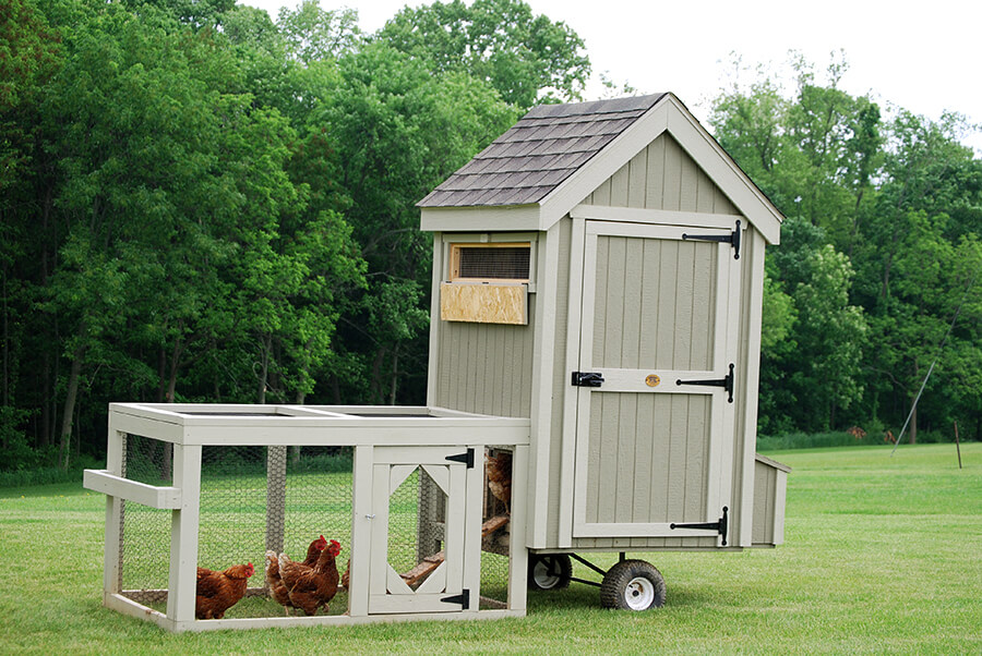 Colonial Gable Run Coop