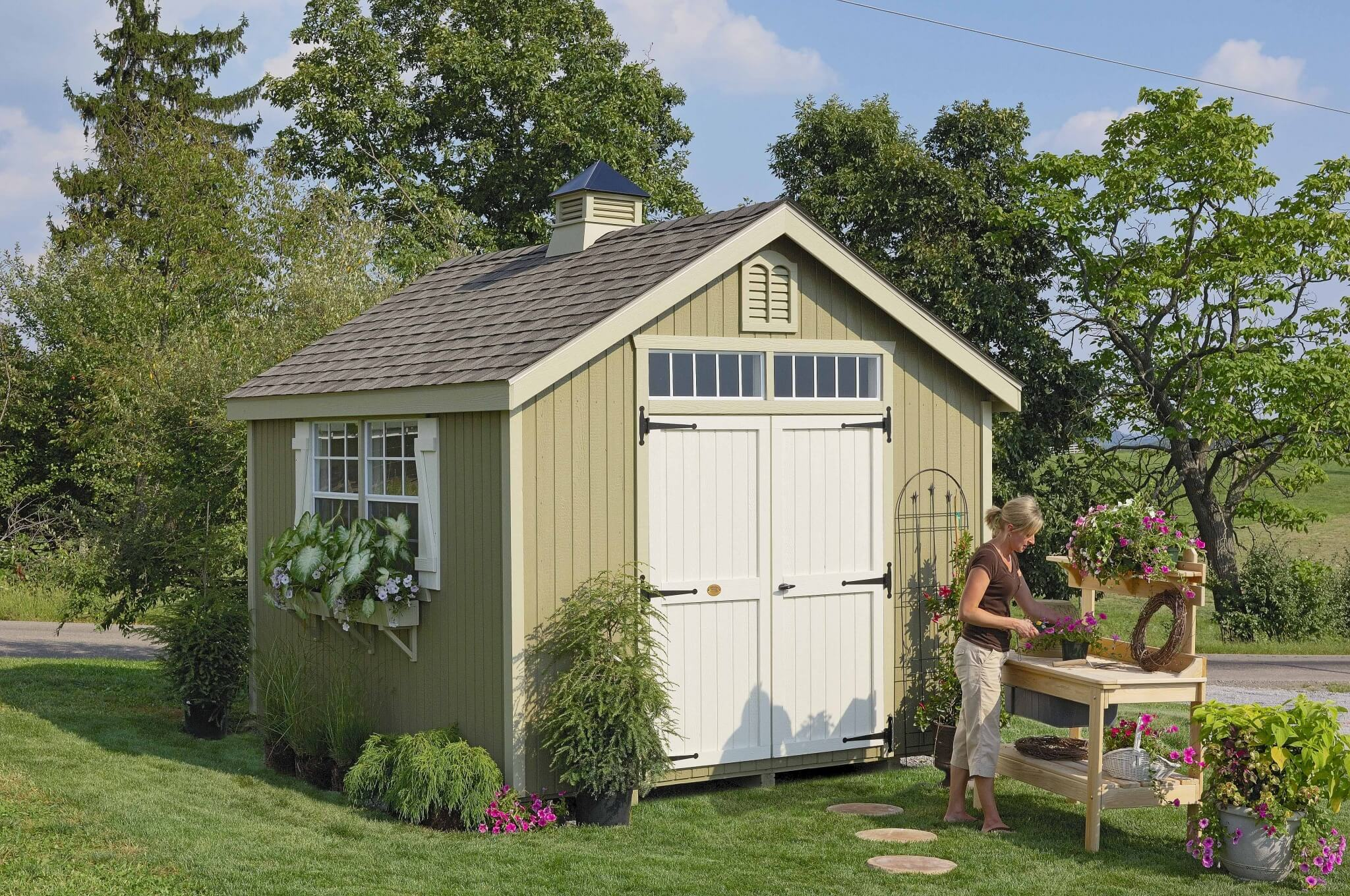 Colonial Williamsburg Garden Shed kit