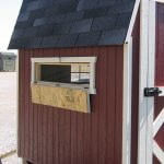 Gambrel Barn Coop Ventilation Bar Open