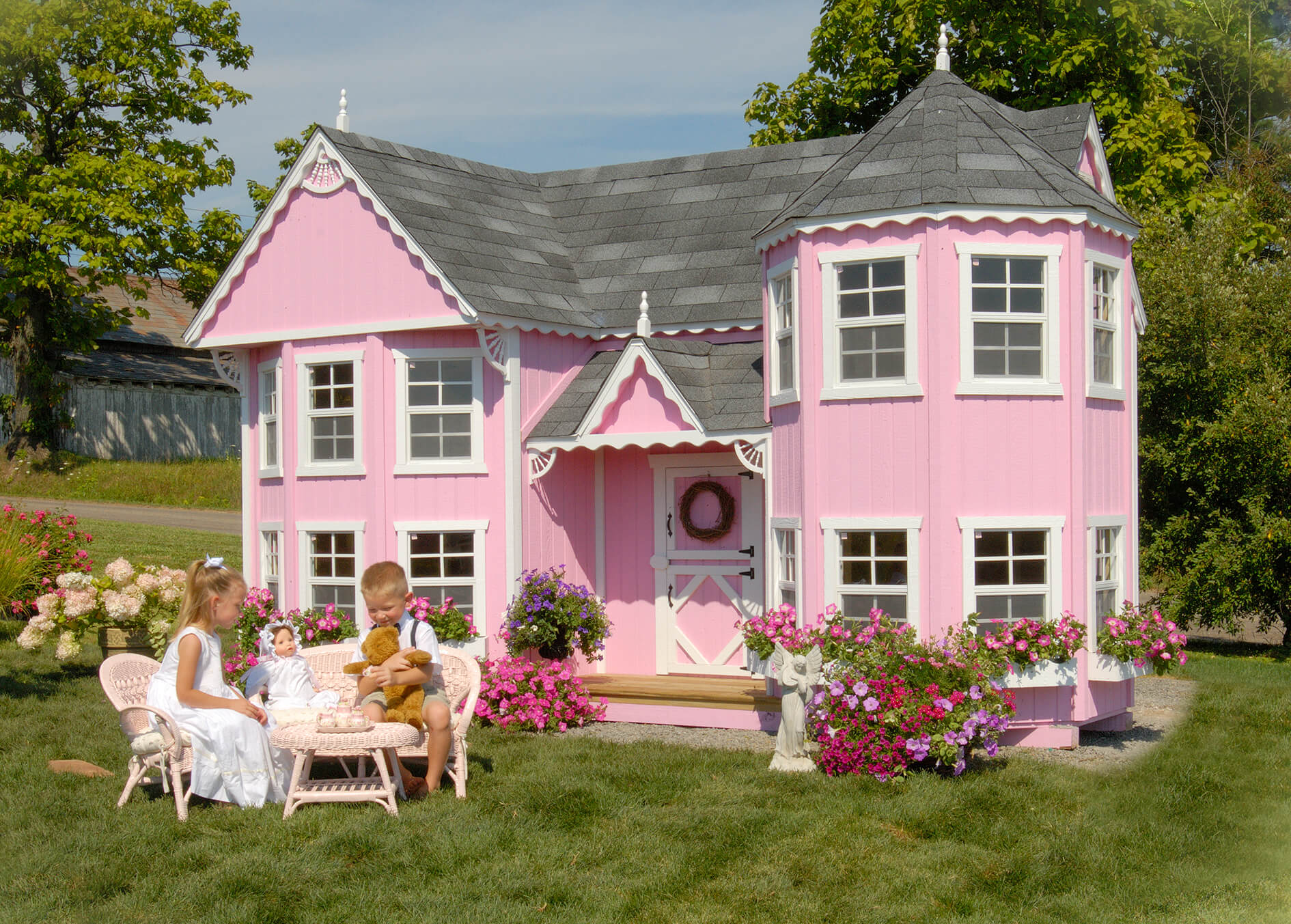 Sara's Victorian Mansion playhouse