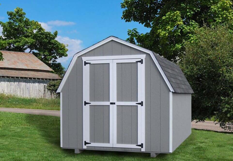 4' Gambrel Barn value storage shed