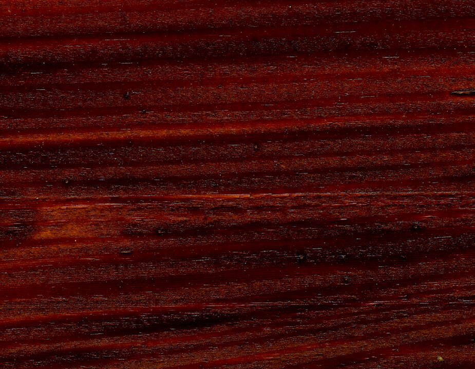 Mahogany wood stain sample